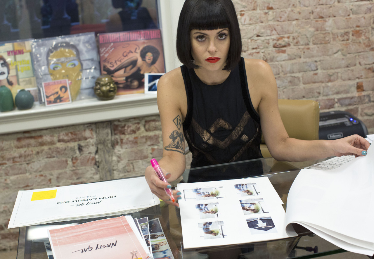Sophia Amoruso, founder of online fashion retailer Nasty Gal, at the company's headquarters in Los Angeles, Jan. 28, 2013. Amoruso turned an eBay store selling vintage finds from Goodwill into an online retailer with $100 million in annual sales. (Monica Almeida/The New York Times)